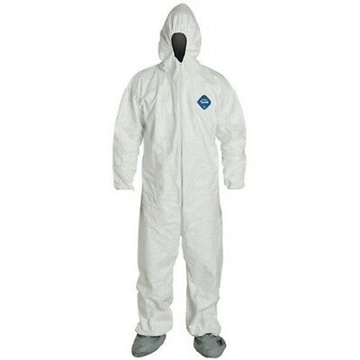 DuPont TY122S-XL Disposable Elastic Wrist, Bootie and Hood Tyvek Coverall Suit