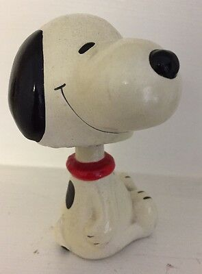 Vintage Peanuts SNOOPY Puppy Dog Charlie Brown Bobblehead Bobble Toy 4 Christmas