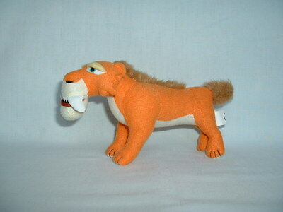 ICE AGE 3 DIEGO THE SABRETOOTH TIGER Cuddly Soft Plush Toy 2/4/COLLISION COURSE
