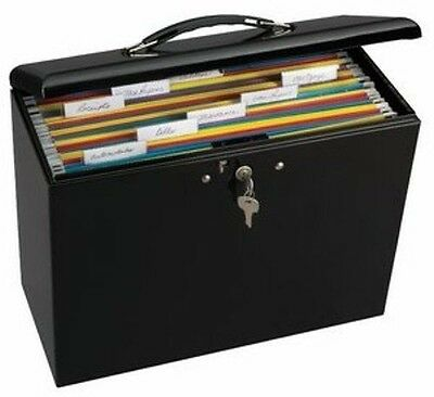 Document Lock Box Folder Security Metal Portable Organizer Office File Storage