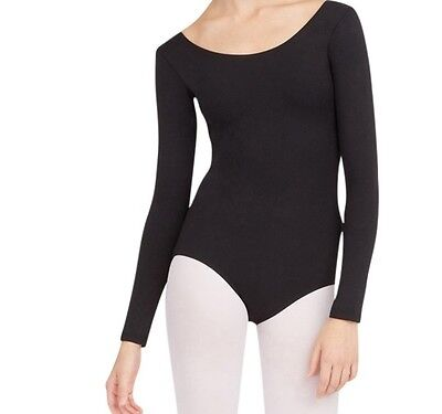 Capezio 135 Women's Large (10-12) Black Long Sleeve Leotard