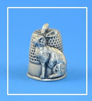 Pewter Hare Thimble