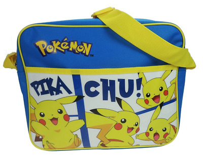 Official Pokemon Pikachu Boys School Despatch Messenger Shoulder Travel Bag New