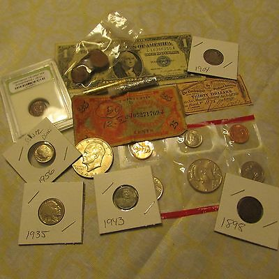 Collection Of Old U.s. Coins And Currency  Set # 15