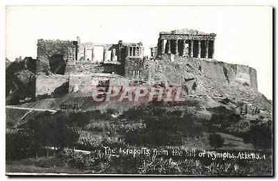 CPA Grece Greece Athenes The Acropolis from the hill of nymphs