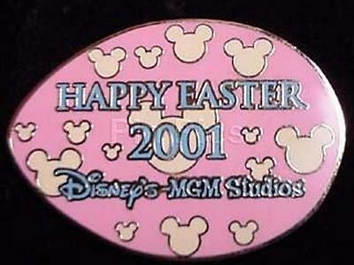 Happy Easter 2001 Wdw Egg Hunt Mgm Studios Pink & Yellow Le Disney Pin 4778