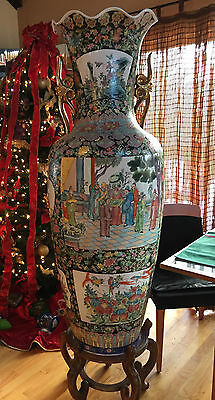 Gorgeous Very Large Porcelain Vase Six Foot