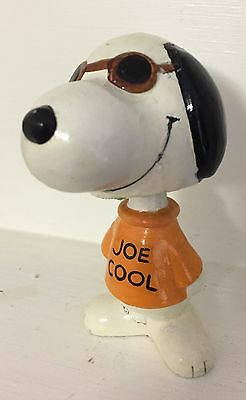 Vintage Peanuts SNOOPY JOE COOL Charlie Brown Bobblehead Bobble Toy 4 Christmas