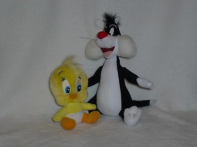 "Lot 2 ~ 6-10"" SYLVESTER Cat TWEETY Bird Plush Stuffed Toy Dolly Looney Tunes"