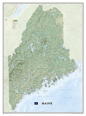 National Geographic Maine State Laminated Wall Map