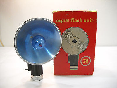 Vintage Argus Flash 76 Unit In Original Box With Bulb