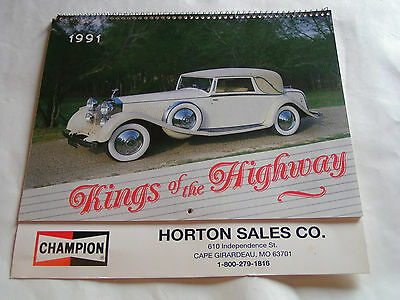 Vintage 1991 Kings Of The Highway Calendar, Champion