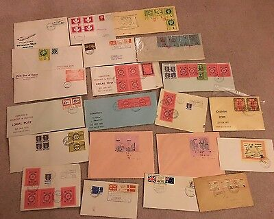 Postal Strike 1971 Job lot mix of 22 covers one day auction