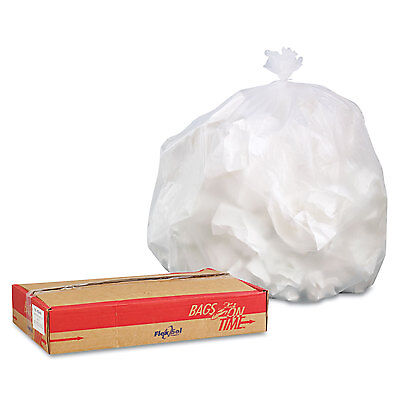 High-Density Can Liners, 44 X 48, 56-Gallon, 24 Micron, Clear, 100/case