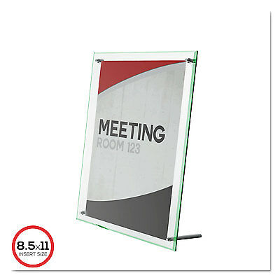 Superior Image Beveled Edge Sign Holder, Acrylic, 8 1/2 X 11 Insert, Clear