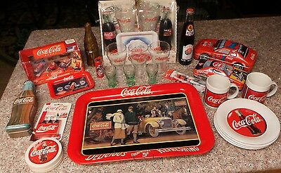 Lot of 28 COCA COLA Collectible Items