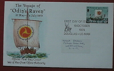 Isle Of Man The Voyage Of Odin's Raven 1979  Fdc    Fc 240