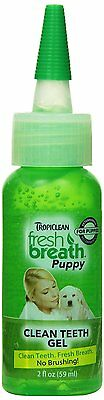 TropiClean Fresh Breath Puppy Clean Teeth Gel Oral Care for Pet Dogs 2z