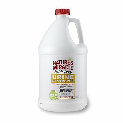 Natures Miracle Just For Cat Urine Destroyer Removes Yellow Stains 1gallon Size