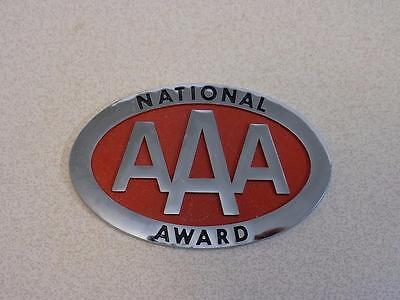 Vintage AAA National Award Chrome with Red Insert Badge