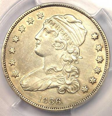 1836 Capped Bust Quarter 25C - PCGS AU Details - Rare Early Date Coin in AU!