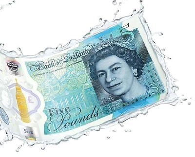 Bank of England First Issue Polymer £5 Five Pound Note Winston Churchill & Queen