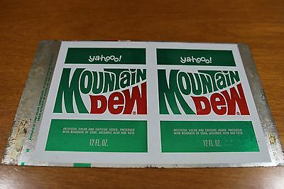 Mountain Dew Uncut Sheet for 1960's Can