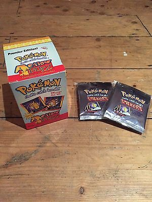 POKEMON Action Flipz Premier Edition factory sealed Box New from 1999 + Stickers