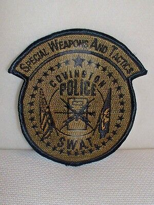 Covington NJ Police SWAT Special Weapons & Tactics Embroidered Patch - Unused