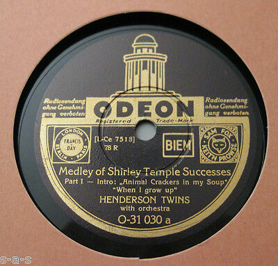 """Nice Price: Henderson Twins - """"Medley Of Shirley Temple Successes"""" 1&2 + STEP"""