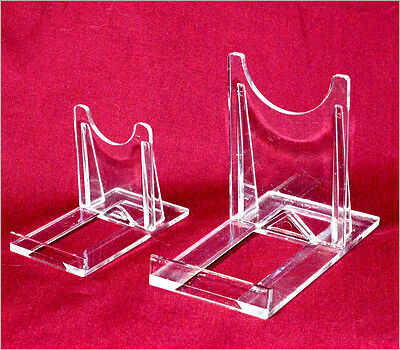 Plastic Clip Stands. Ideal To Display Fossils And Minerals. 2 Sizes. Free P & P