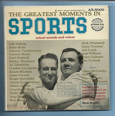 THE GREATEST MOMENTS IN SPORTS (actual sounds and voices) 3 records