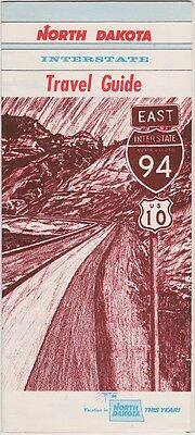 1960's North Dakota Interstate Travel Guide Brochure