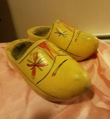Vintage Pair of Wooden Dutch Holland Shoes