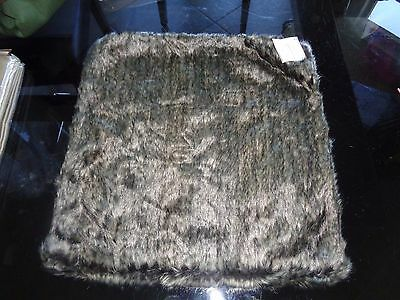 Pottery Barn  faux Fur Pillow cover  18 rabbit    New with tags