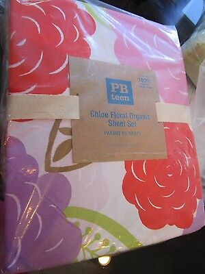 Pottery Barn Teen Chloe floral  sheet set full   New with tags