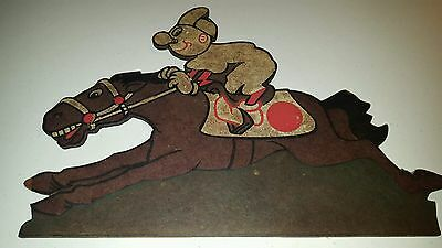"Reddy Kilowatt On Racehorse vintage sign 17"" wooden horse electrician gift"