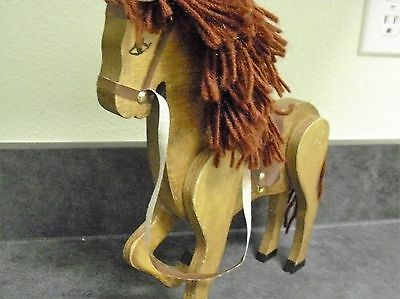 Vintage old Rare Hand carved Unique Wooden Horse Statue Figurine