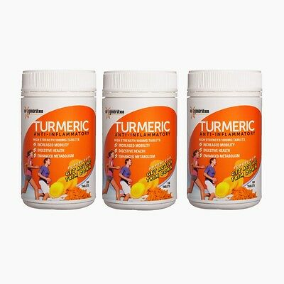 TURMERIC TABLETS 3 x 150 TABLETS ANTI INFLAMMATORY TUMERIC SUPPLEMENT