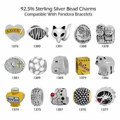 925 Sterling Silver Beads for European Charm Bracelets & Necklaces 29-1391