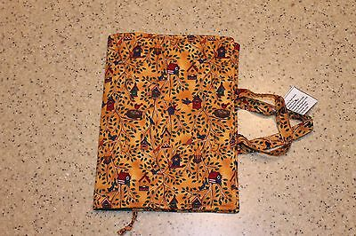 Handmade Fabric Paperback Book Cover New Birdhouses for Larger Paperbacks-SALE