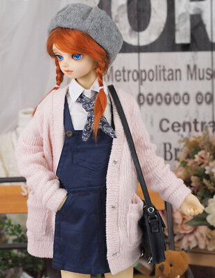 1/3 BJD SD 23.6in Knit Long Pink Cardigan Clothing For Ball Jointed Doll