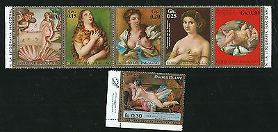 Masterpieces Mint Stamps Botticelli Titian Caracci Rafael Boucher Nudes Painting