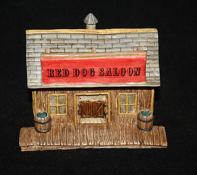 Red Dog Saloon Sculpture Wild West 1993 Italy Castagna Collection