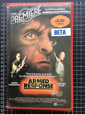 ARMED RESPONSE rare Roadshow BETA not VHS Video cult 80s B-grade trash action
