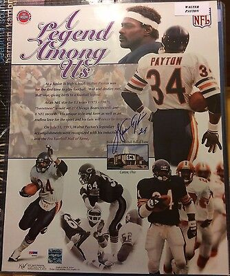WALTER PAYTON 16x20 SIGNED Poster PSA/DNA Authenticated LOA Autograph BEARS