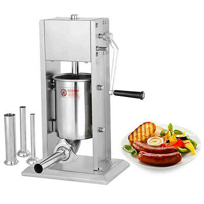 8LB Commercial SS Vertical Sausage Stuffer with 2 Speeds 27240