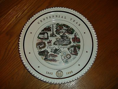 1863-1963 West Virginia Centennial Year Gold Collector State Plate Dish History