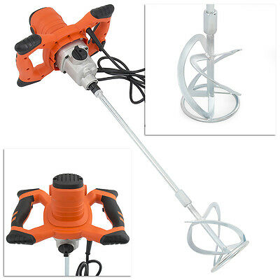 Electric 6 Speed Mixer. Hand Held Mixer. 1600W Paint Cement Grout Mortar Mixer