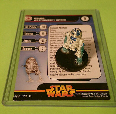 Star Wars Miniatures R2-D2 Astromech DROID 17/60 VERY RARE - FREE SHIPPING!!